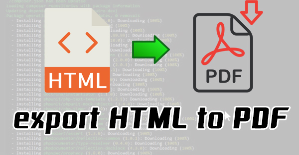 php export html to pdf
