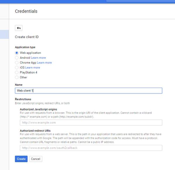 การสร้าง Google App